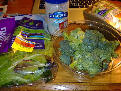 Salat, Pilze & Brokoli