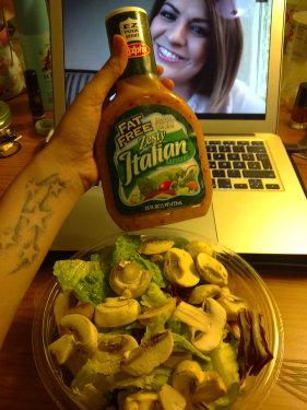 Salat mit Pilzen