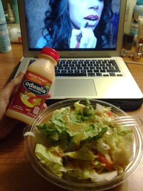 Salat und Smoothie