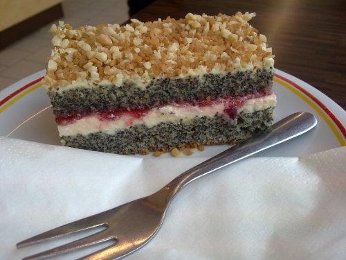 Mohn-Krokant-Kuchen