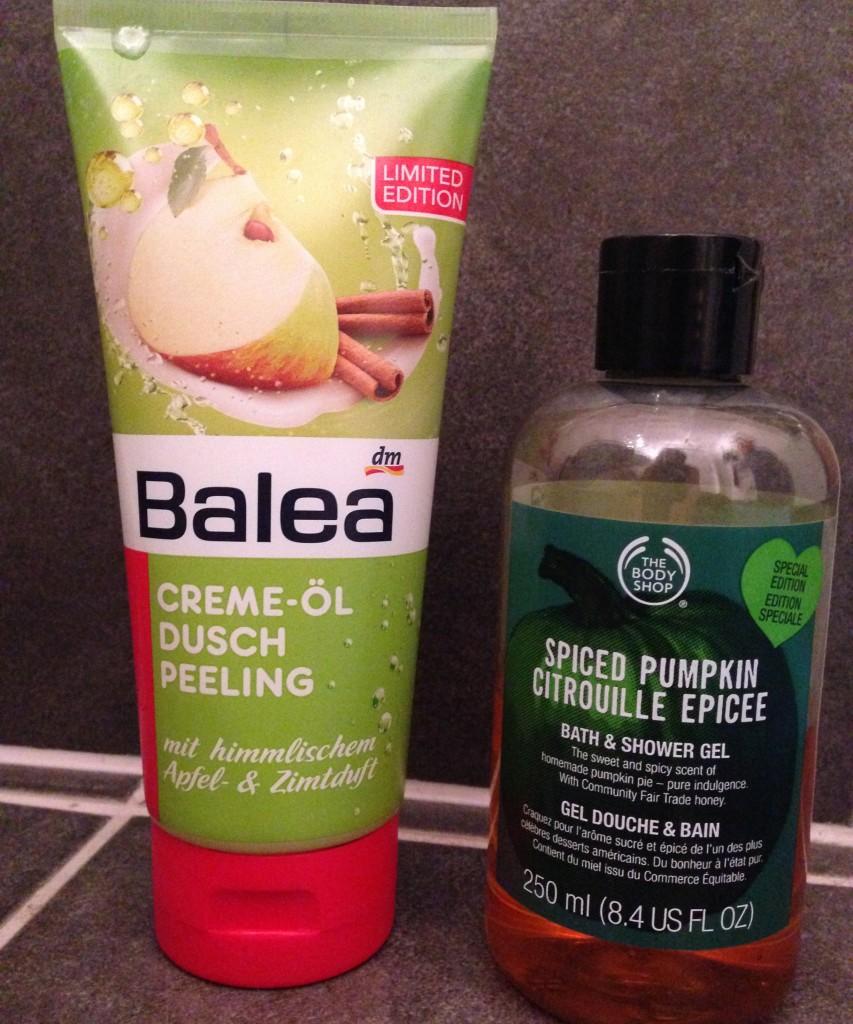 Spiced Pumpkin & Balea Apfel-Zimt-Peeling