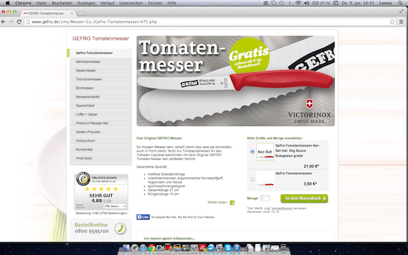 Tomatenmesser GEFRO