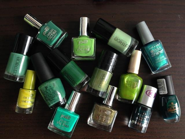 Grüne Nagellacke