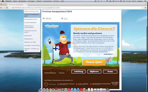 Finnlines Gewinnspiel