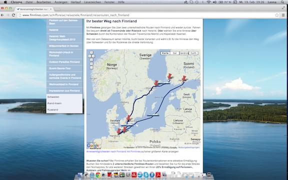 Finnlines Streckennetz