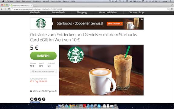 Gutschein Starbucks