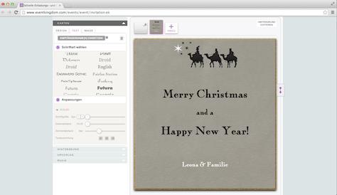 Weihnachtskarte Kamele