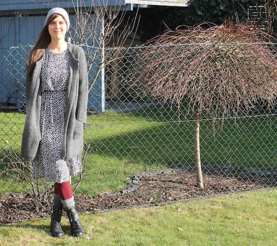 Chic meets Grobstrick Outfit