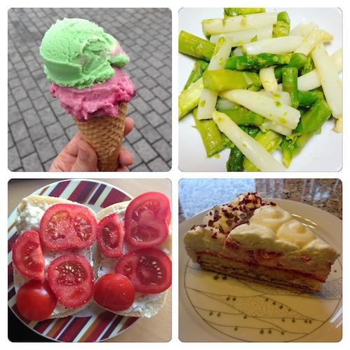 Vegetarische Teller-Einblicke