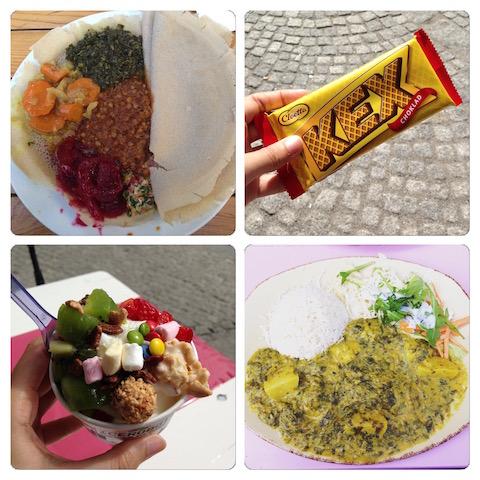 Vegetarische Teller-Eiblicke