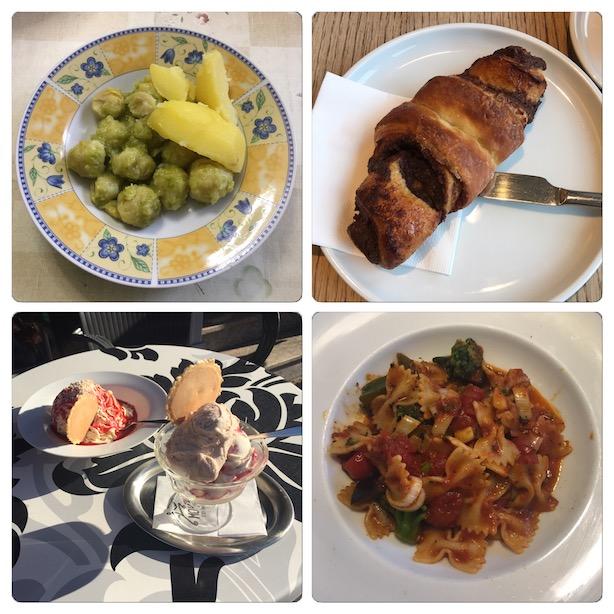 Vegetarische Tellereinblicke